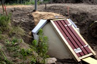 Eingraben eines neuen Erdkellers in Dresden.