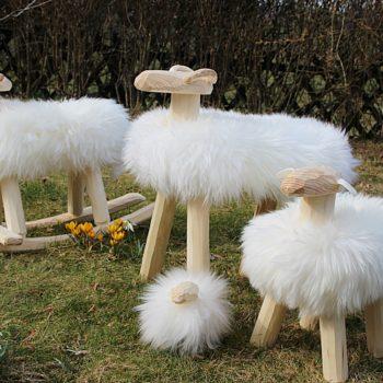 Schaf-Familie weiß mit Schaukel