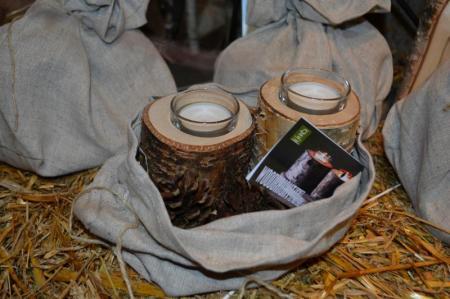 Zwei Kerzenhalter für Teelicht aus Birke