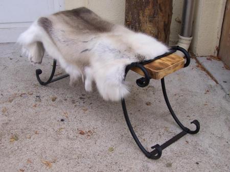Füße der Geschmiedeten Sitzbank als Paar