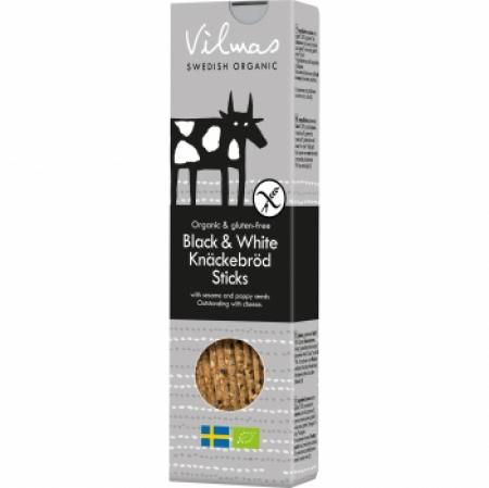 Vilmas Black & White Crispbread Sticks BIO-Knäckesticks