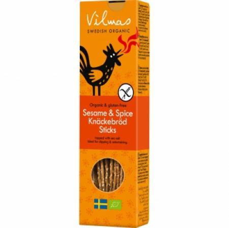 Vilmas Sesame & Spice Crispbread Sticks BIO-Knäckesticks